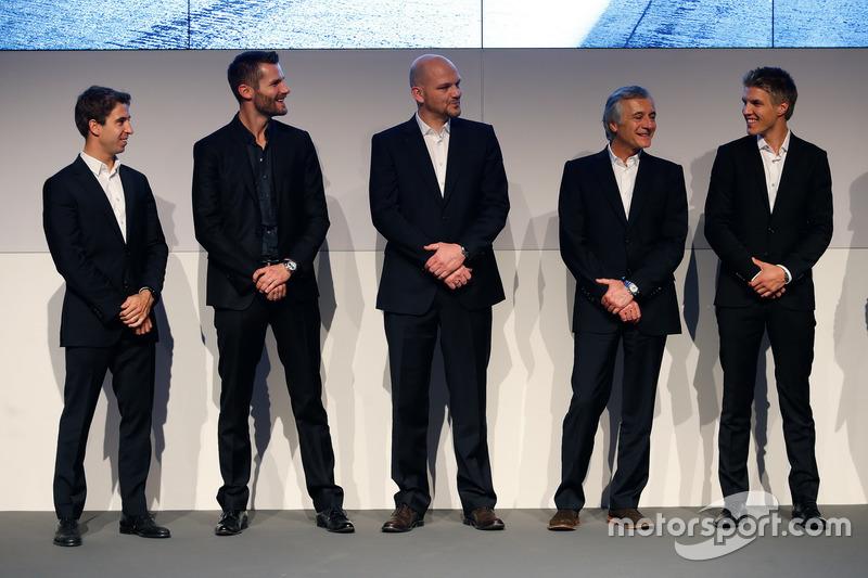 Antonio Felix da Costa; Martin Tomczyk; Ernest Knoors, director del equipo BMW MTEK; Charly Lamm, Team director BMW Team Schnitzer y Jesse Krohn