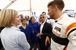Susie Wolff, Channel 4 F1, Claire Williams, Deputy Team Principal, Williams, Sadiq Khan, Mayor of London, Jenson Button, McLaren, meet children from St George's Cathedral Catholic Primary School, Southwark