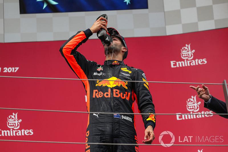Подіум: третій призер Даніель Ріккардо, Red Bull Racing