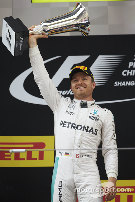 Podium: winnaar Nico Rosberg, Mercedes AMG F1 Team
