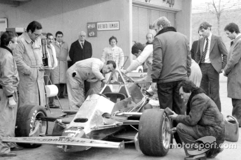 Primera prueba del Ferrari 126 C2