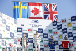 Podium: Race winner Lance Stroll, Prema Powerteam Dallara F312 - Mercedes-Benz; second place Joel Eriksson, Motopark Dallara F312 - Volkswagen; third place Jake Hughes, Carlin Dallara F312 - Volkswagen