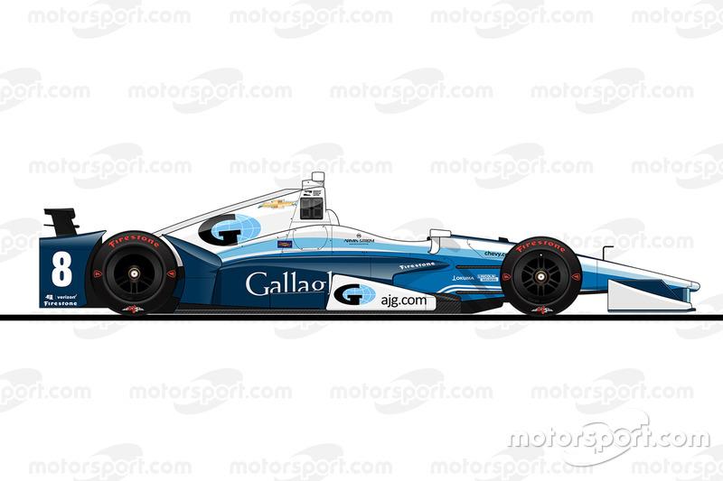 Max Chilton, Chip Ganassi Racing Chevrolet crashed car