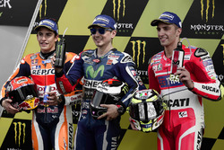 Polesitter Jorge Lorenzo, Yamaha Factory Racing, second place Marc Marquez, Repsol Honda Team, third place Andrea Iannone, Ducati Team