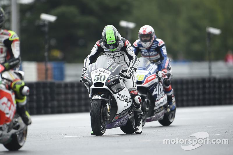 Eugene Laverty, Aspar MotoGP Team, sulla griglia di partenza