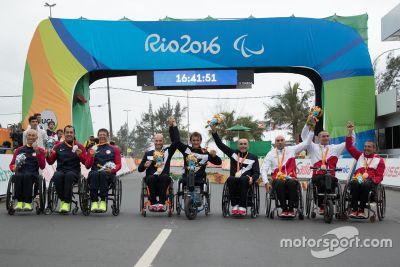 Alex Zanardi op de Paralympische Spelen