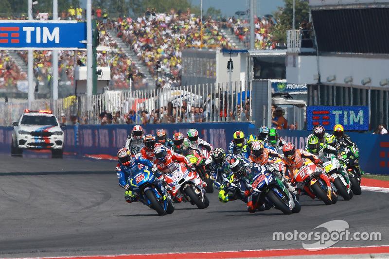 Start: Jorge Lorenzo, Yamaha Factory Racing, führt