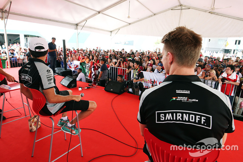 Nico Hülkenberg, Sahara Force India F1, und Sergio Perez, Sahara Force India F1