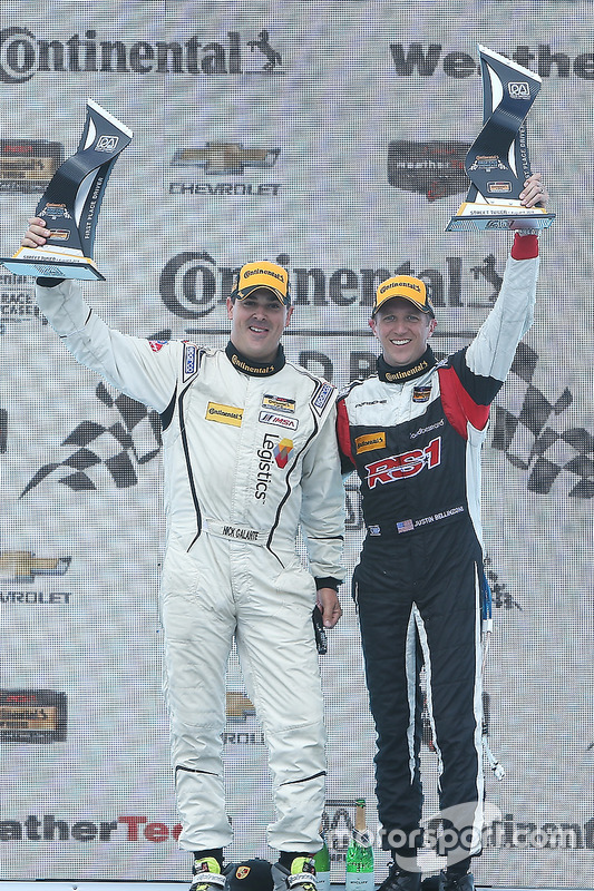 ST podium: winners #17 RS1 Porsche Cayman: Nick Galante, Spencer Pumpelly