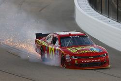 Ryan Preece, JD Motorsports Chevrolet in trouble