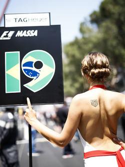 Grid Girl for Felipe Massa, Williams