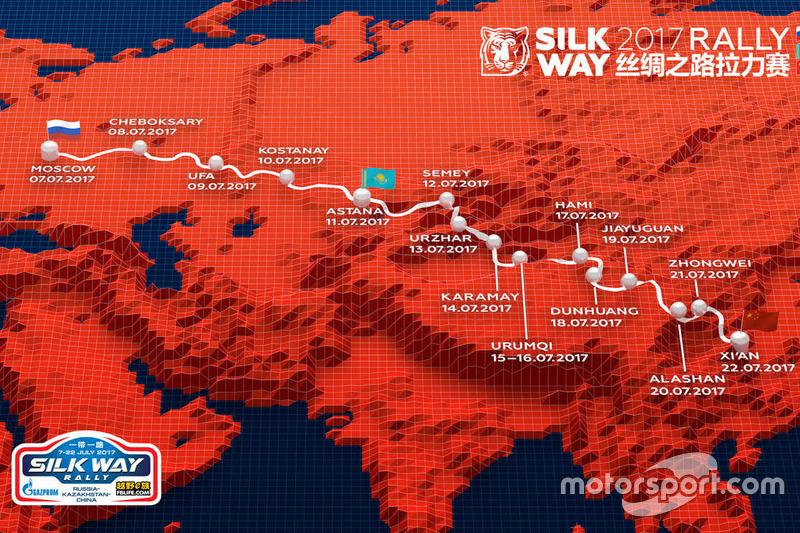Présentation du Silk Way Rally à Moscou