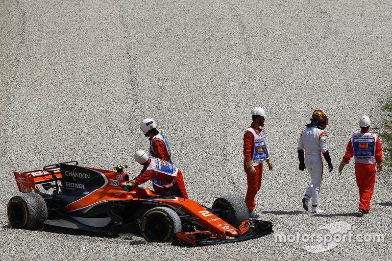 Kollision: Stoffel Vandoorne, McLaren MCL32