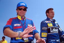 Peter Windsor, Williams; Riccardo Patrese, Williams