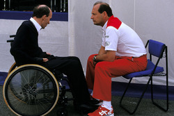 Frank Williams, Williams-Teamchef; Ron Dennis, McLaren-Teamchef