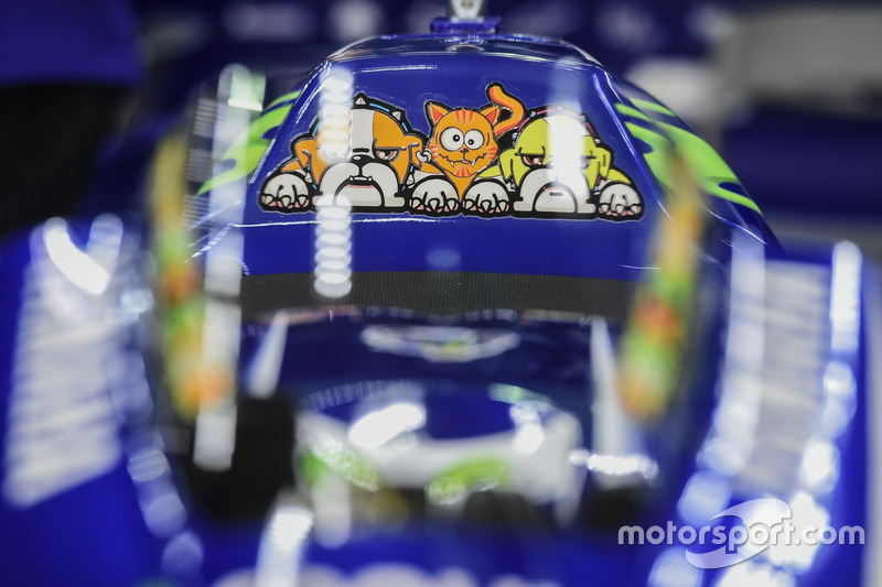 Detalle de moto, Valentino Rossi, Yamaha Factory Racing