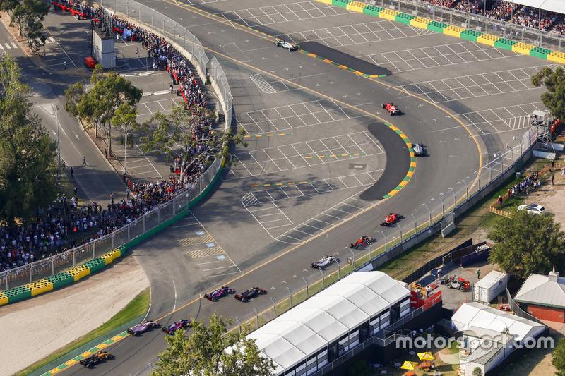 Lewis Hamilton, Mercedes AMG F1 W08, Sebastian Vettel, Ferrari SF70H, Valtteri Bottas, Mercedes AMG F1 W08, Kimi Raikkonen, Ferrari SF70H, Max Verstappen, Red Bull Racing RB13