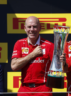 Jock Clear, Engineering Director, Ferrari, collects the Constructors trophy