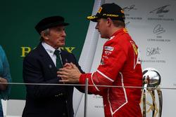 3. Kimi Raikkonen, Ferrari, mit Jackie Stewart