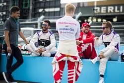 Mitch Evans, Jaguar Racing, José María López, DS Virgin Racing, Felix Rosenqvist, Mahindra Racing, Nick Heidfeld, Mahindra Racing y Sam Bird, DS Virgin Racing