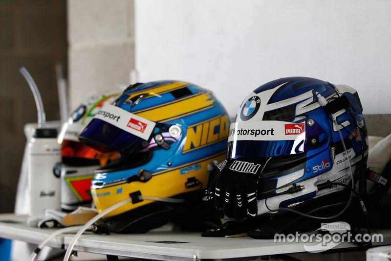 Cascos de #99 Walkenhorst Motorsport, BMW M6 GT3: Jörg Müller, Nico Menzel, Ricky Collard
