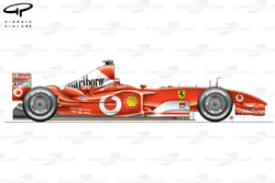 Ferrari F2003-GA (654) 2003 side view