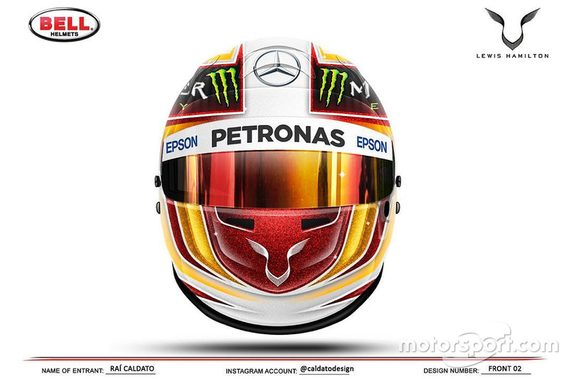 lewis hamilton pr sente son nouveau casque. Black Bedroom Furniture Sets. Home Design Ideas