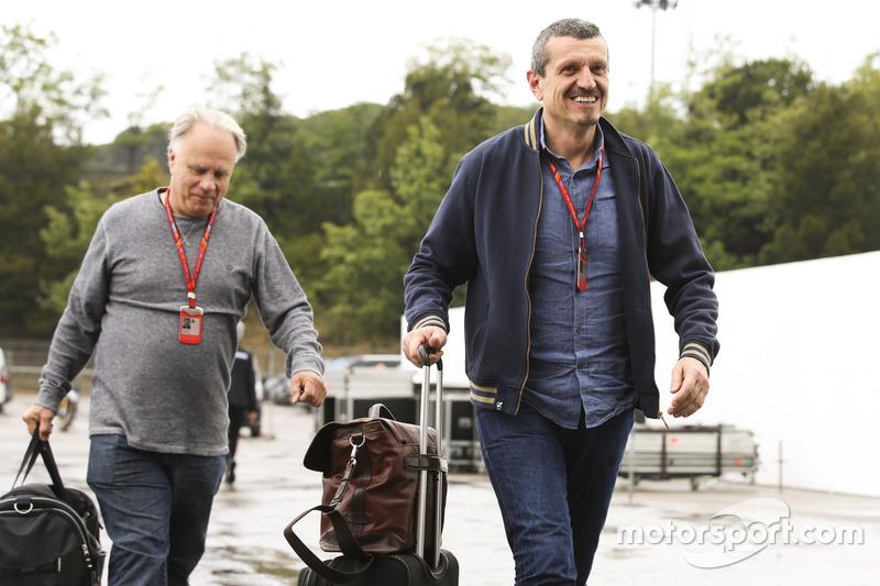 Руководитель Haas F1 Гюнтер Штайнер и владелец команды Джин Хаас