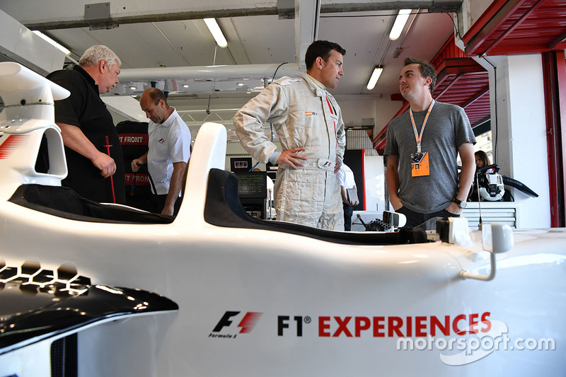 F1 Experiences 2-Seater passenger Will Buxton, NBC TV Presenter and Frankie Muniz, Actor