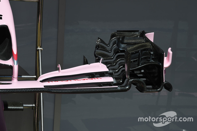Sahara Force India VJM10 front wing detail