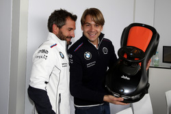 Timo Glock, BMW Team RMG, BMW M4 DTM and Augusto Farfus, BMW Team RMG, BMW M4 DTM with bobby car