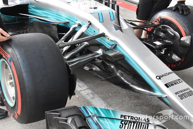 Mercedes AMG F1 F1 W08, dettaglio frontale
