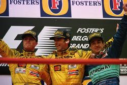 Pdoum: Racewinner Damon Hill, Jordan, second place Ralf Schumacher, Jordan; third place Jean Alesi, Sauber