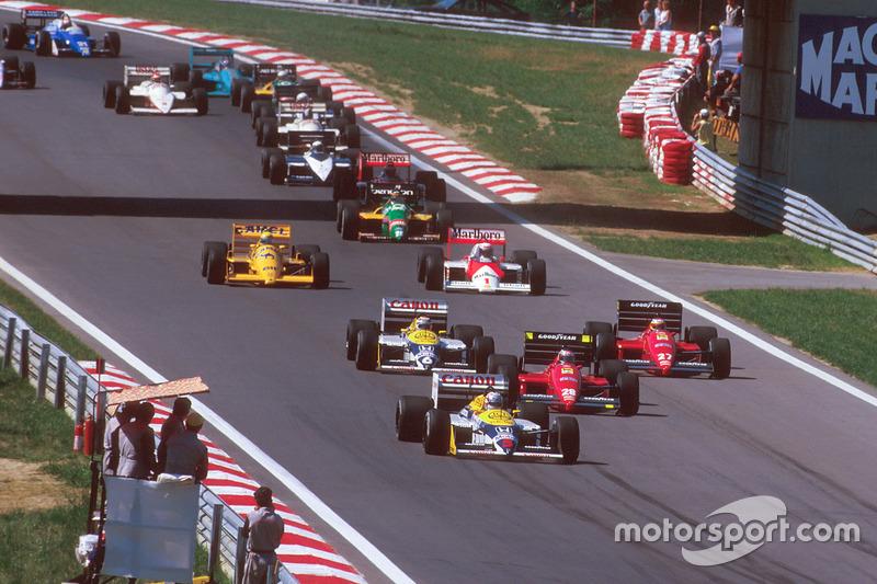 Найджел Менселл, Williams FW11B Honda, Герхард Бергер, Ferrari F187, Мікеле Альборето, Ferrari F187,