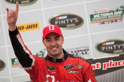 Podium: race winner Kevin Lacroix
