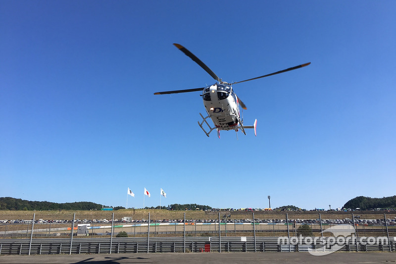 Jorge Lorenzo, Yamaha Factory Racing, Hubschraubereinsatz