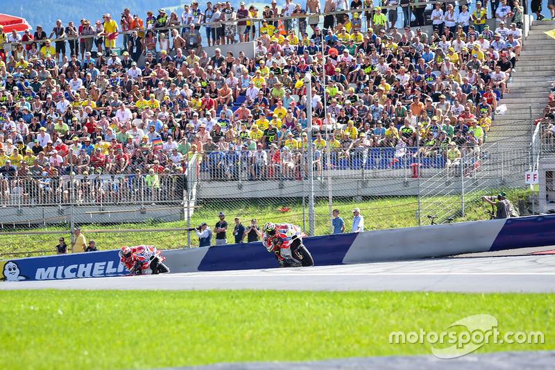 Andrea Iannone, Ducati Team and Andrea Dovizioso, Ducati Team