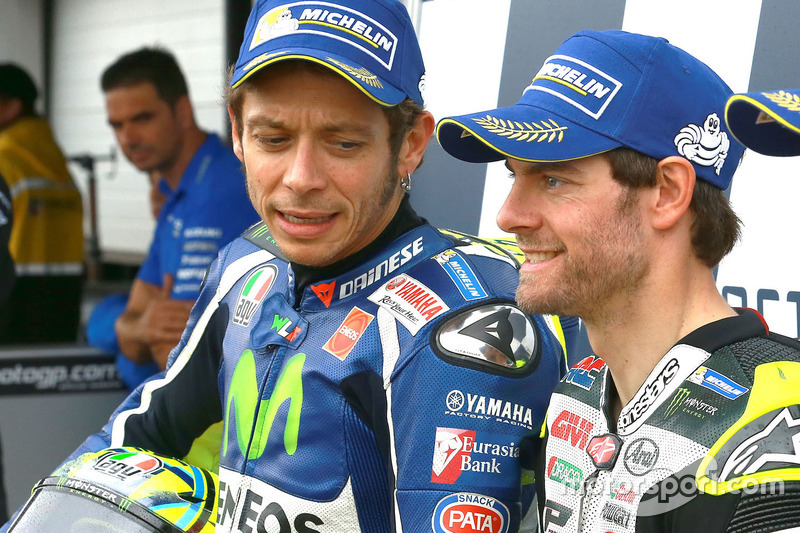 Second position Valentino Rossi, Yamaha Factory Racing and polesitter Cal Crutchlow, Team LCR Honda