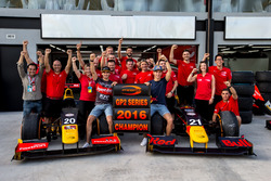 Antonio Giovinazzi, PREMA Racing and Pierre Gasly, PREMA Racing celebrate winning the GP2 Series 2016 Team Championship with their team