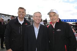 Colin Barnett, West Australian Premier with  James Warburton, Supercars CEO and Roger Penske