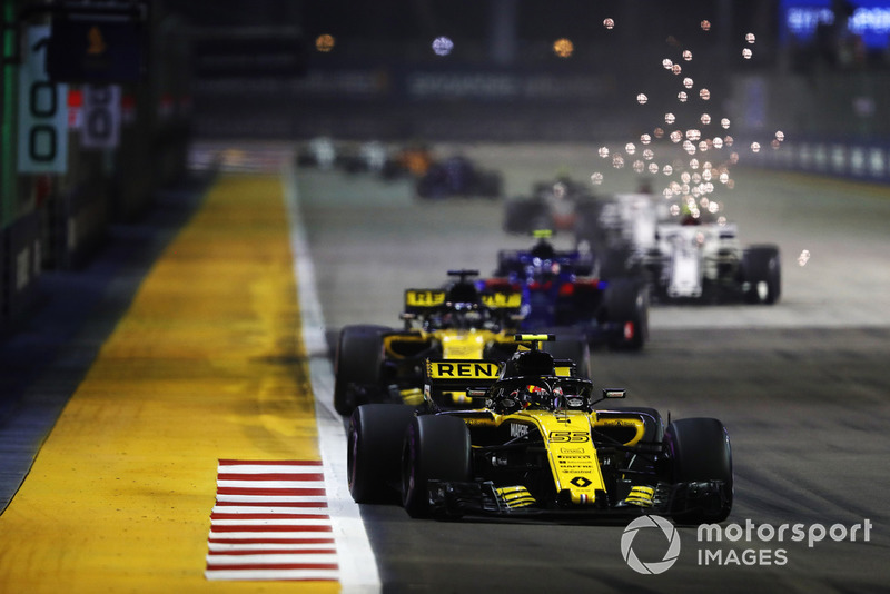 Carlos Sainz Jr., Renault Sport F1 Team R.S. 18, Nico Hulkenberg, Renault Sport F1 Team R.S. 18, Brendon Hartley, Toro Rosso STR13 Honda, Marcus Ericsson, Alfa Romeo Sauber C37