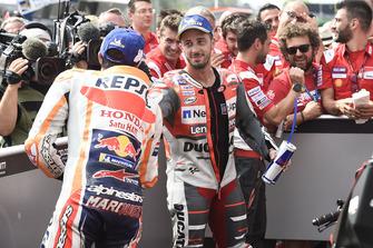Race winner Andrea Dovizioso, Ducati Team, third place Marc Marquez, Repsol Honda Team