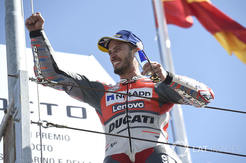 Podium: race winner Andrea Dovizioso, Ducati Team