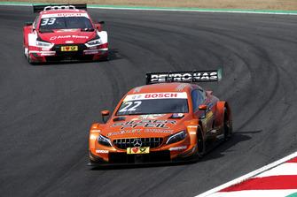 Lucas Auer, Mercedes-AMG Team HWA, Mercedes-AMG C63 DTM, René Rast, Audi Sport Team Rosberg, Audi RS 5 DTM