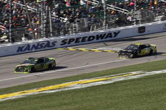 Chase Elliott, Hendrick Motorsports, Chevrolet Camaro Mountain Dew and Kyle Weatherman, StarCom Racing, Chevrolet Camaro StarCom Fiber