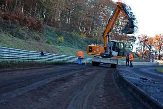 Nürburgring Nordschleife'de inşaat çalışmaları