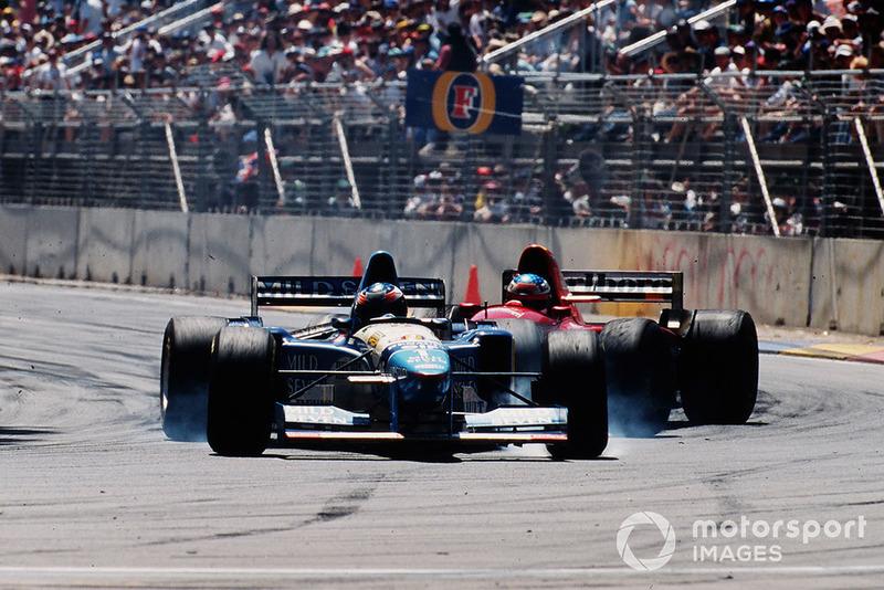 Michael Schumacher, Benetton B195 Renault, Jean Alesi, Ferrari 412T2