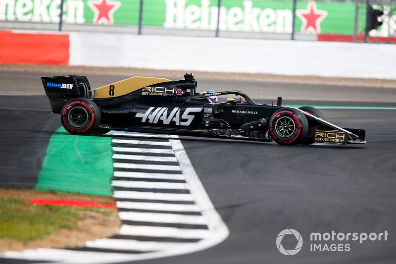 Romain Grosjean, Haas F1 Team VF-19 part en tête-à-queue