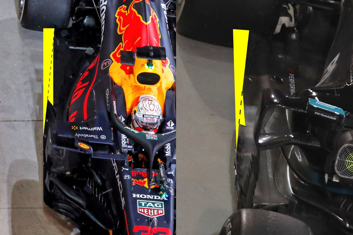 Red Bull and Mercedes floor comparison