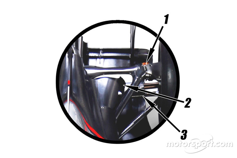 Haas VF-16 sospensione posteriore